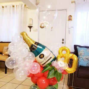 Bouquet Champagne Bottle