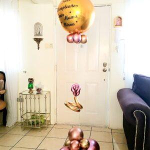 Globo con Helio Feliz Cumpleaños Mama