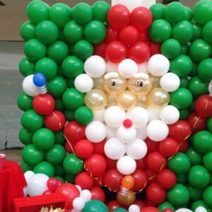 Pared de Globos Santa