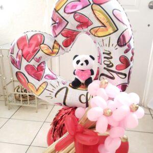Valentines Corazon y Panda