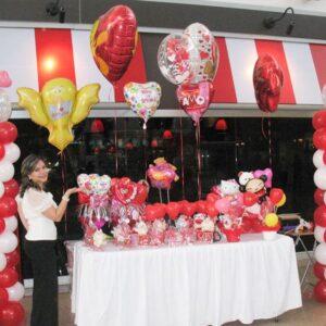 Valentines Mesa Corazones